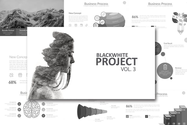 BLACK WHITE Vol. 3 Google Slides