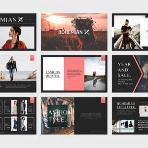 Bohemian : Fashion Catalogue Powerpoint Template