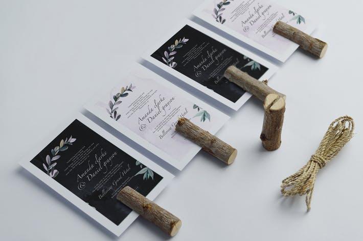 Botanical wedding invitation v3