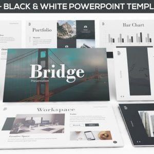 Bridge - Black & White Powerpoint Presentation