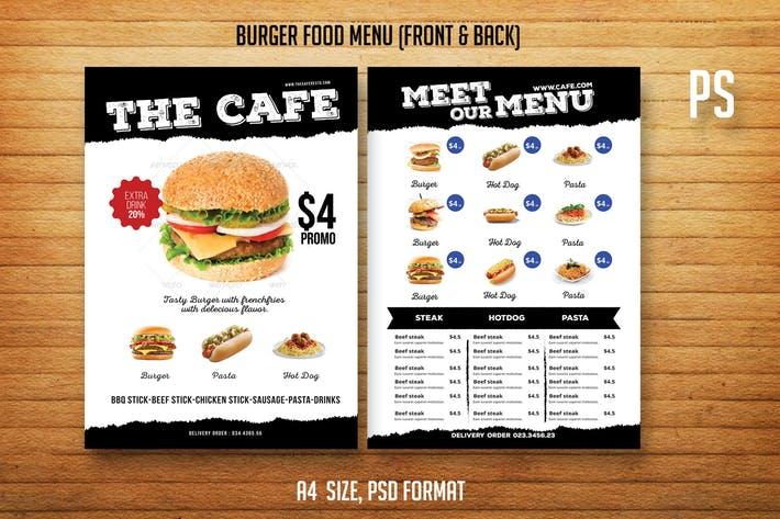 Burger Food Menu Menu