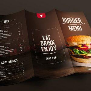 Burger Menu Trifold