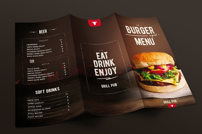 Burger Menu Trifold