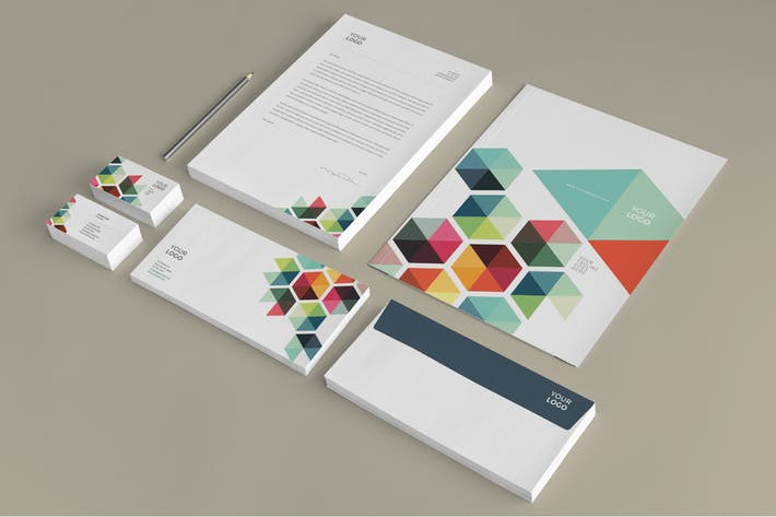 Business Colorful Stationery