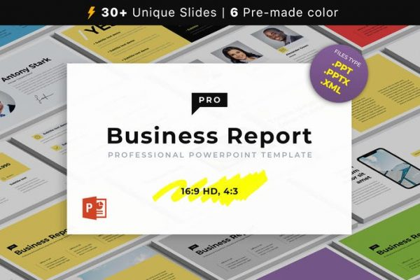 Business Report PRO PowerPoint Template