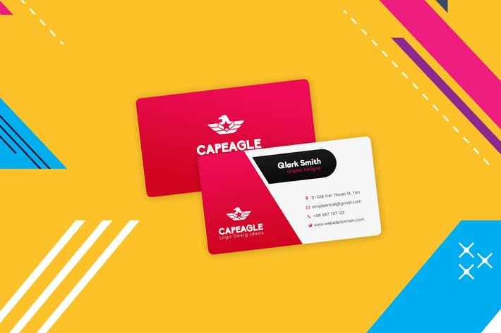 Business Visiting Cards Design Template
