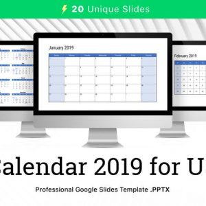 Calendar 2019 US for Google Slides