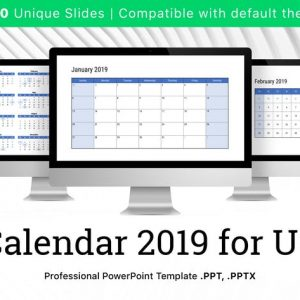 Calendar 2019 US for PowerPoint