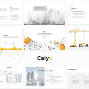 Calyx : Construction Google Slides Template