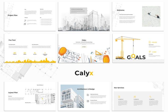 Calyx : Construction Google Slides Template