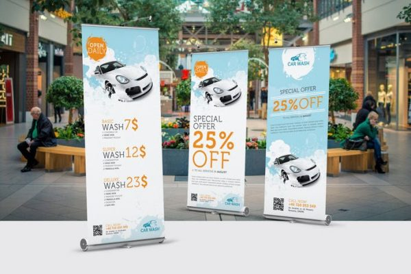 Car Wash Roll-Up Banner