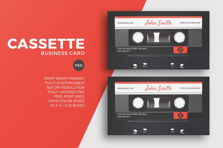 Cassette Business Card Template