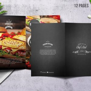 Chef's Bifold Restaurant Menu - A4 &US Letter 12p
