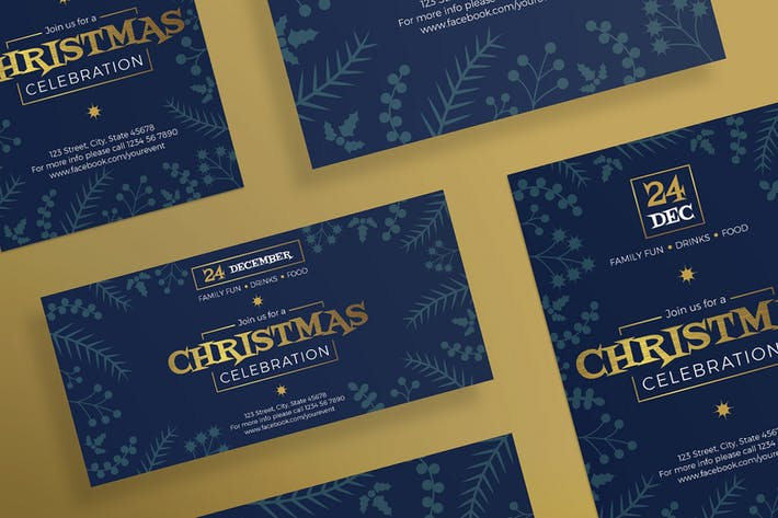 Christmas Celebration Flyer and Poster Template