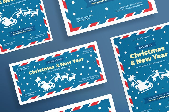 Christmas Travel Agency Flyer and Poster Template