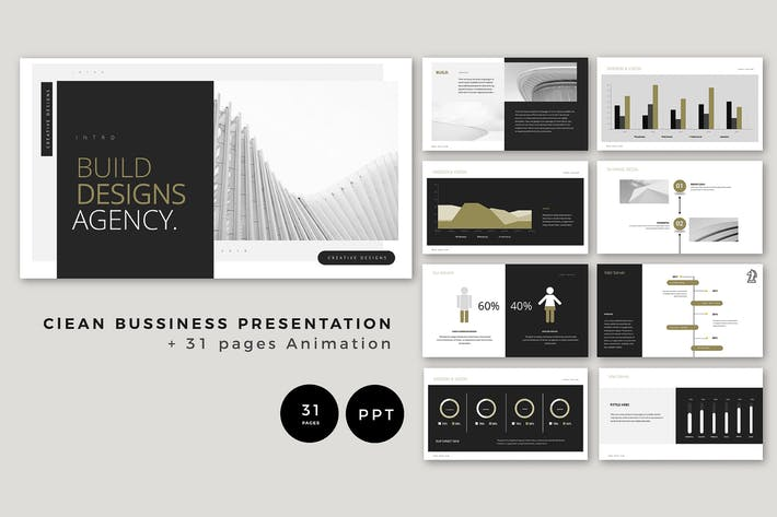 Clean Bussiness Presentation