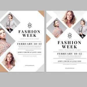 Clean Fashion Week Flyer