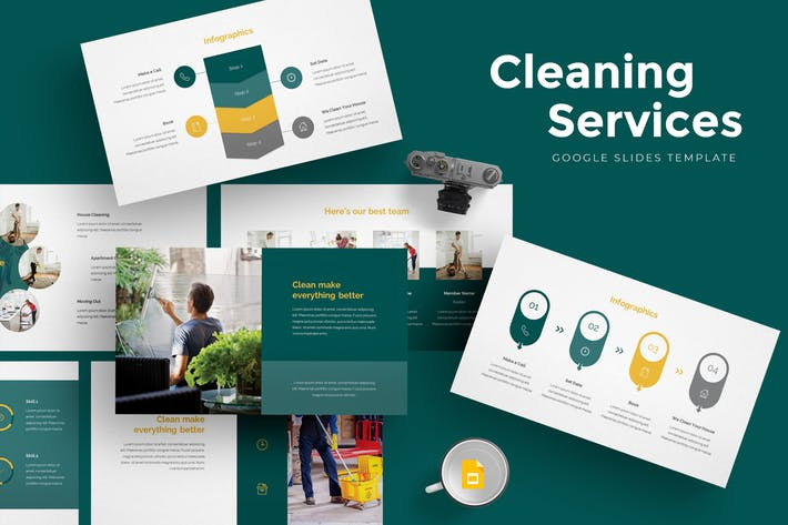 Cleaning Services Google Slides Template