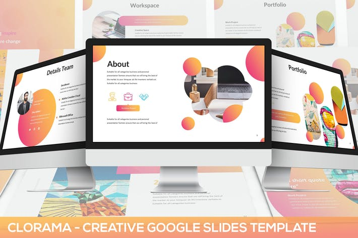 Clorama - Creative Google Slides Template