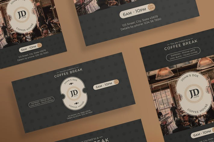 Coffee Bar Flyer and Poster Template