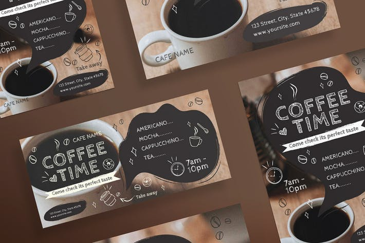 Coffee Cafe Flyer and Poster Template