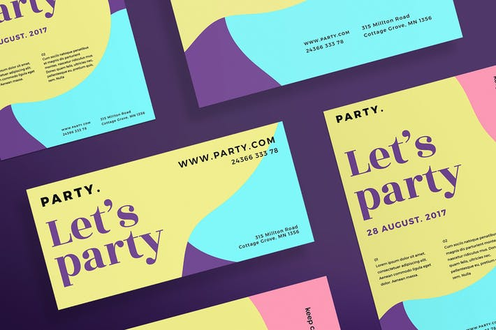 Color Party Flyer and Poster Template