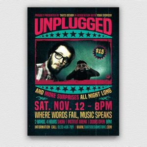 Concert Unplugged Flyer Template