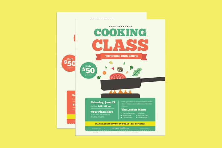 Cooking Class Event Flyer