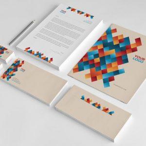 Cool Coloful Pattern Stationery