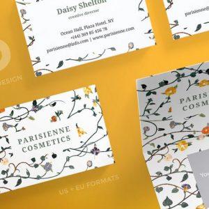 Cosmetics Brand Business Card Template
