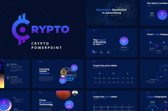 CRYPTO Powerpoint Template