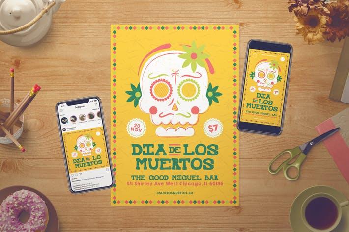 Dia De Los Muertos Flyer Set + Instagram Story