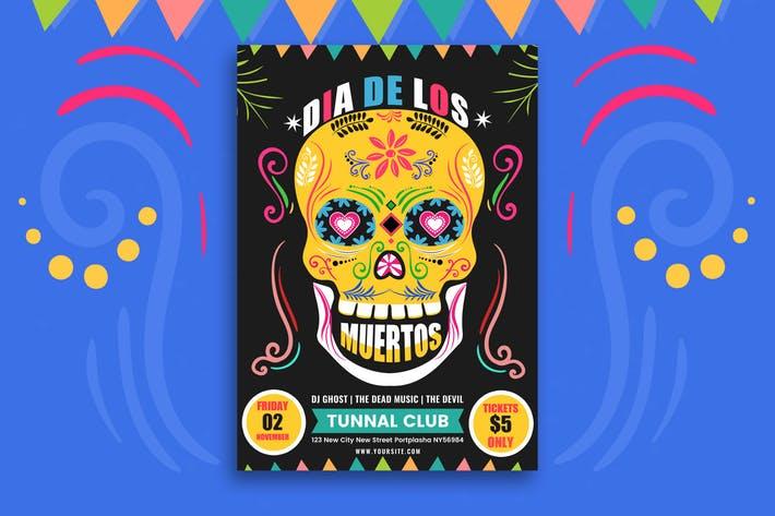 Dia De Los Muertos Party Flyer