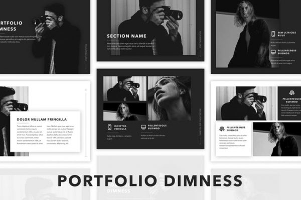 Dimness PowerPoint Template