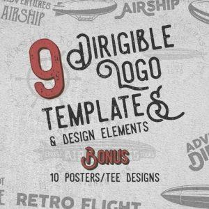 Dirigible Vintage Logo / Badges & Design Elements