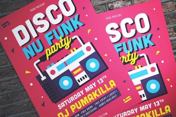 Disco Nu-Funk Party Flyer