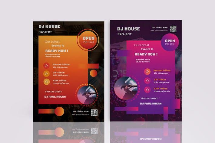 DJ Music Events Flyer Template