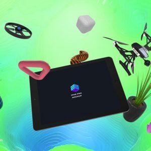 Drone Control App iPad Pro Mockup - MK