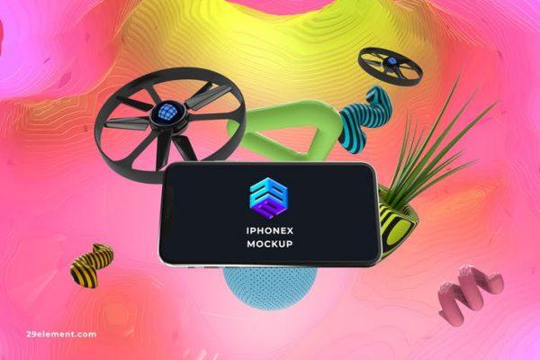 Drone Control App iPhone X Mockup - MK