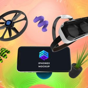 Drone VR iPhone X Mockup - MK