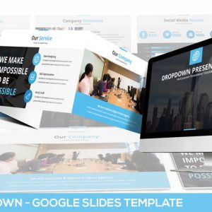 Dropdown Google Slides Presentation Template