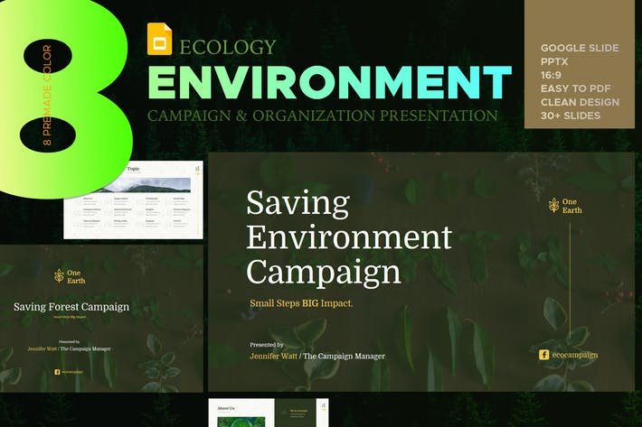 Eco Environment Google Slide Presentation