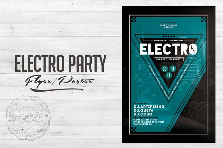 Electro City Vol 02. Flyer Poster