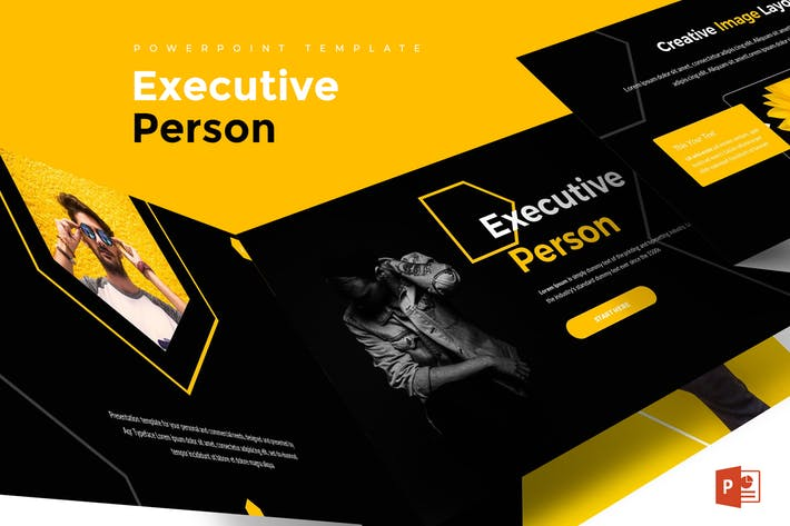 Executive Person - Powerpoint Template