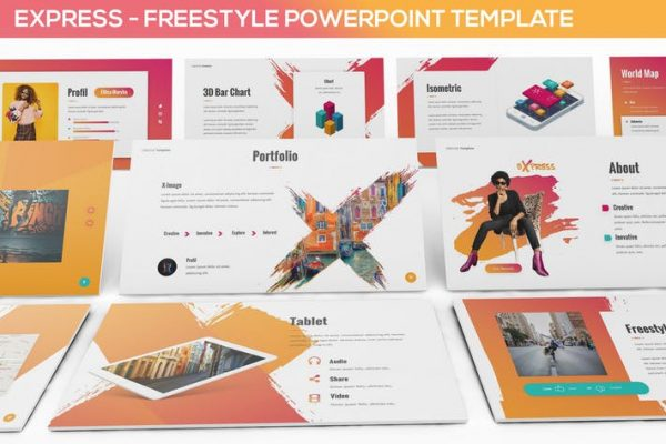 Express - Freestyle Powerpoint Template