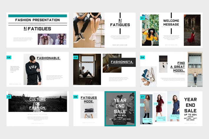 Fatigues : Fashion Lookbook Powerpoint Template
