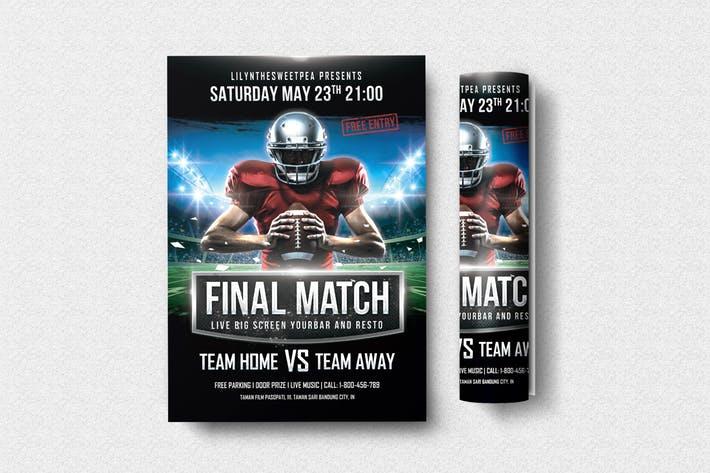 Final Match Football Flyer