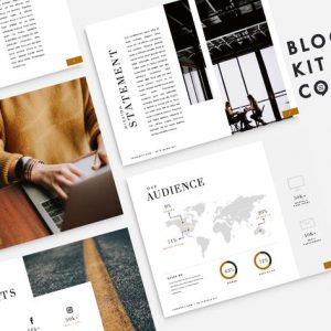 Financial Blog Media Kit | 10 Pages| PowerPoint
