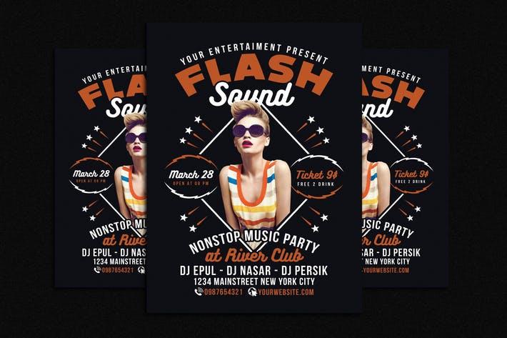 Flash Sound Disco Music Party Flyer