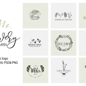 Flower Logo Templates V.1